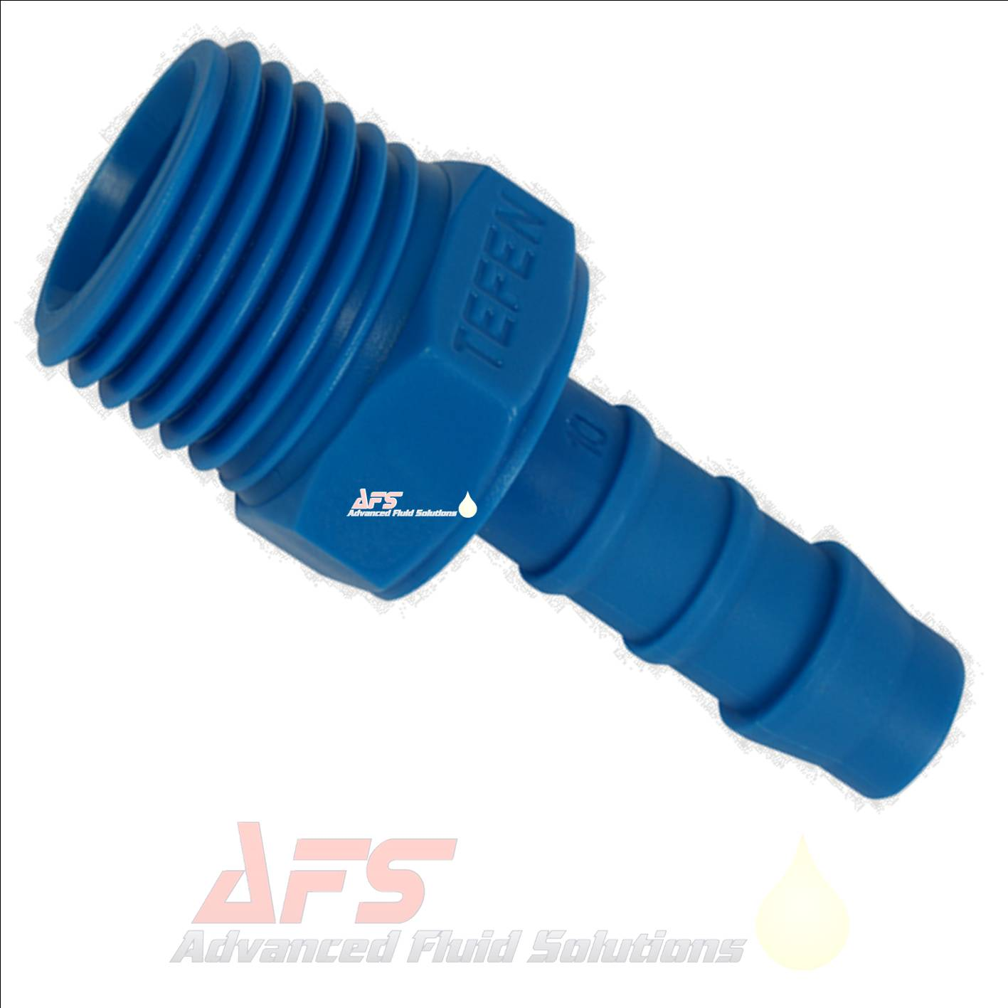 14mm 9 16 Hose Tail x 3 8 BSPT Male Straight Tefen Blue Nylon Fitting