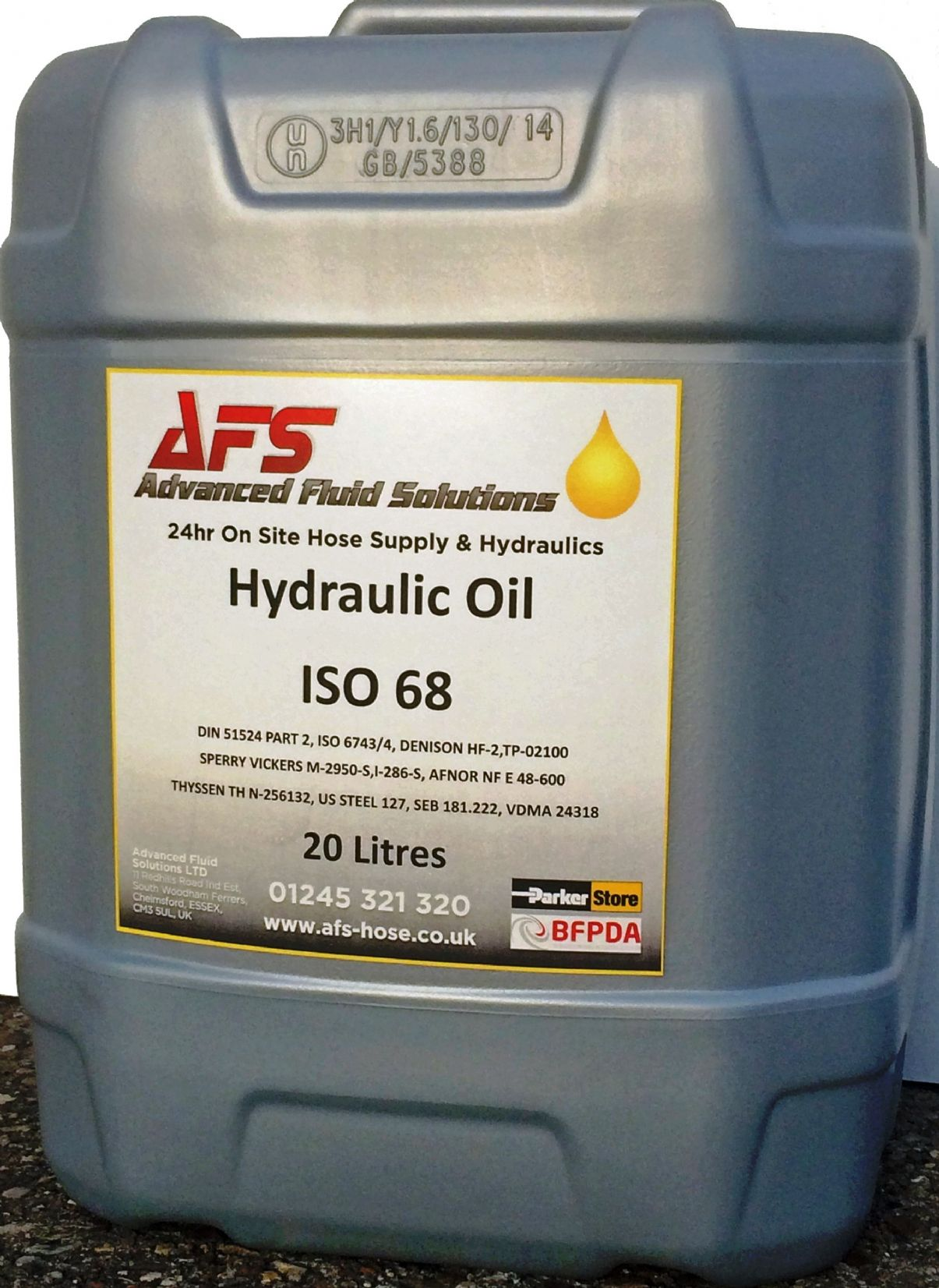 20ltr X 68 Grade Hydraulic Mineral Oil To Bs Iso 6743 4 Hm