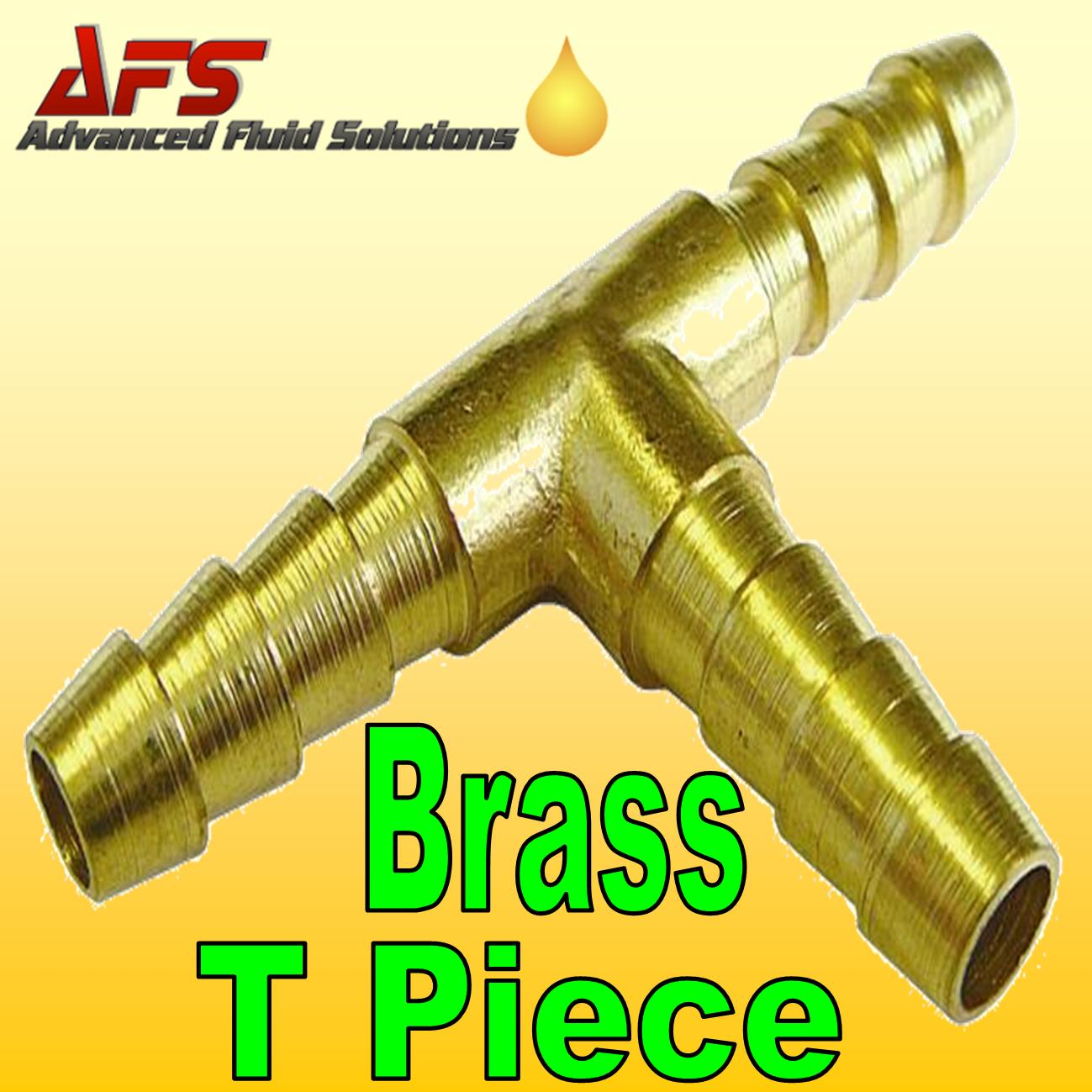 5mm 3 16 Brass Barbed T Piece 3 Way Fuel Hose Joiner