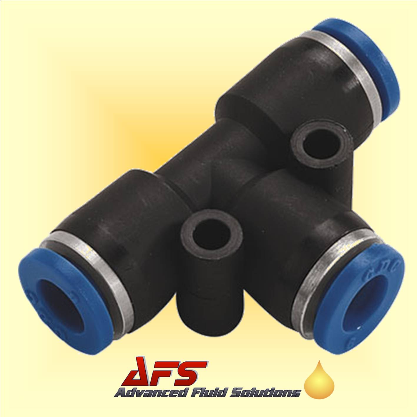 6mm Equal Tee Push-in Fitting Nylon Pipe Tube Connector