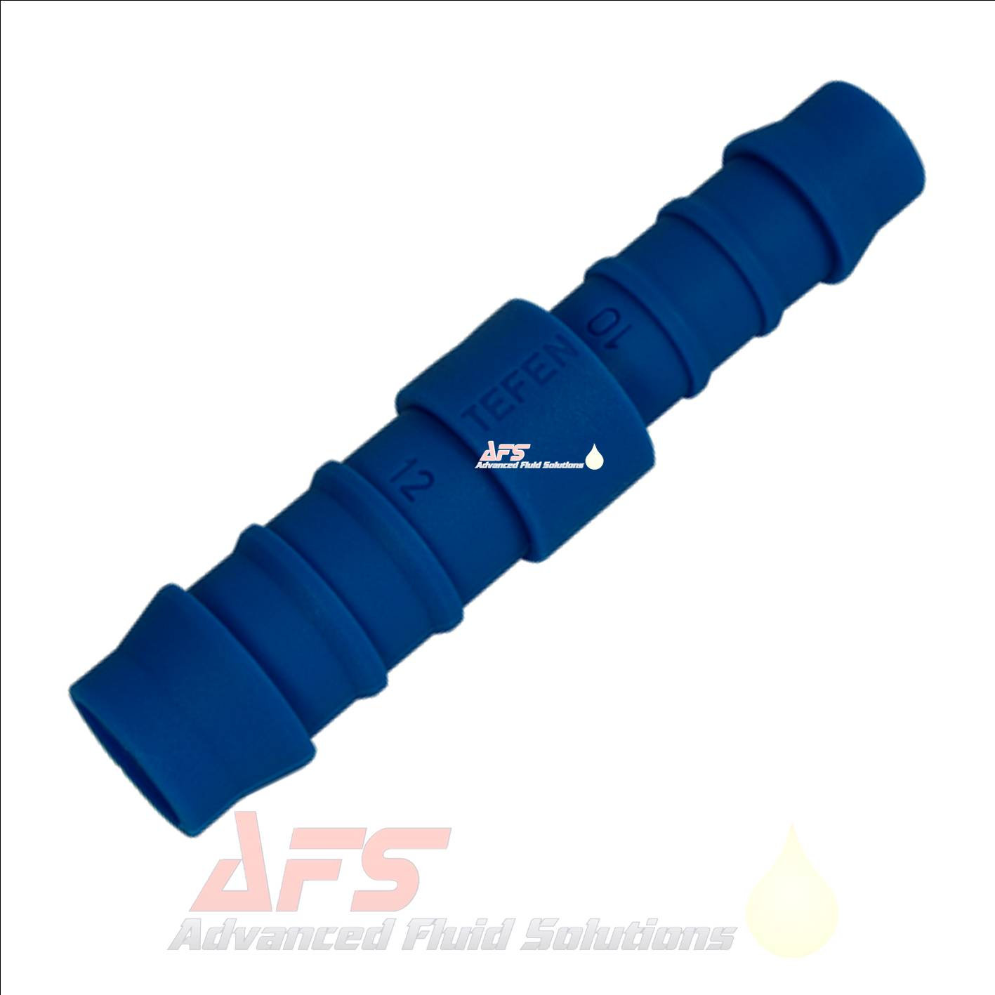 5mm Reducing Straight Tefen Hose Joiner Connector Blue Nylon Fitting