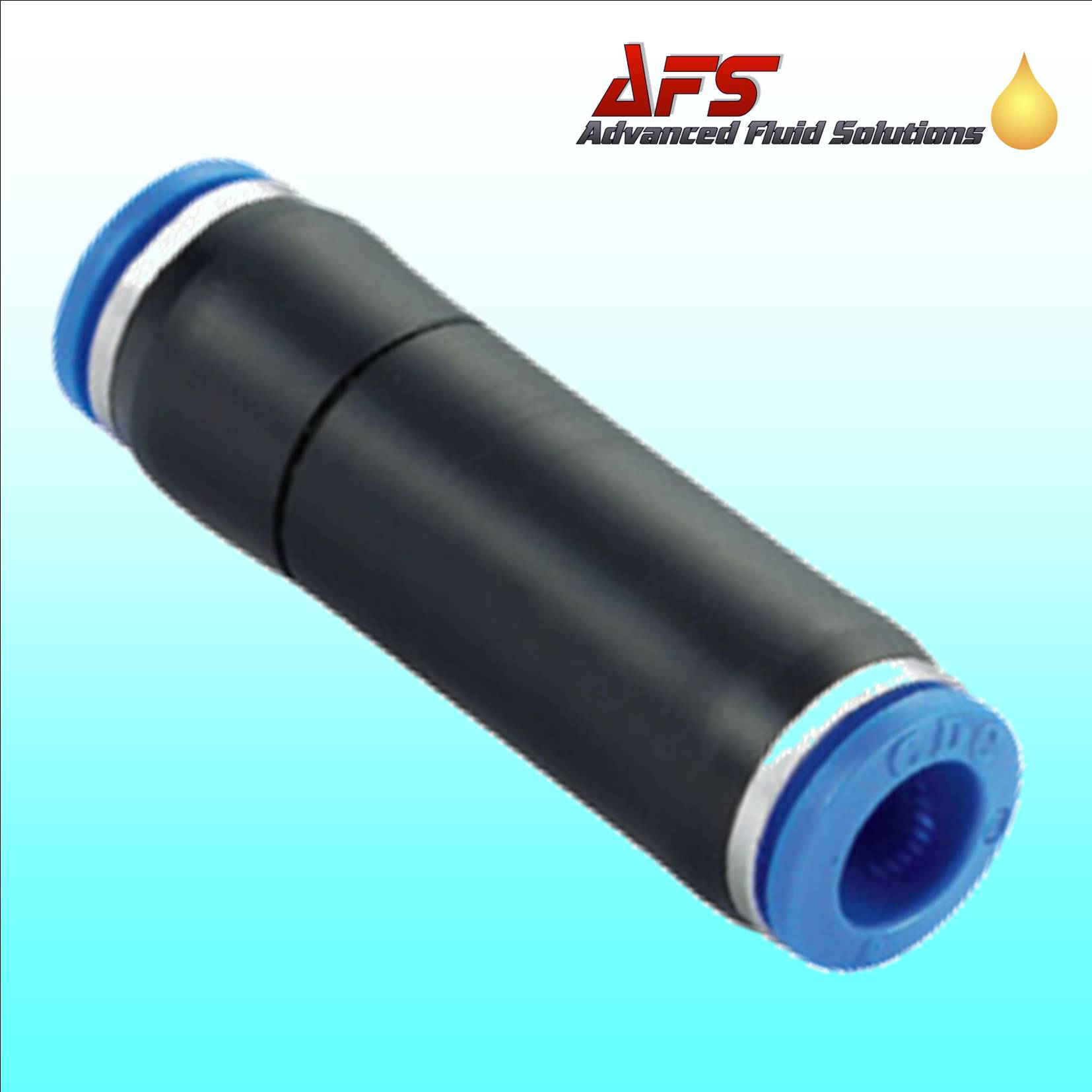 Mm inline check valve straight push in fitting nylon pipe