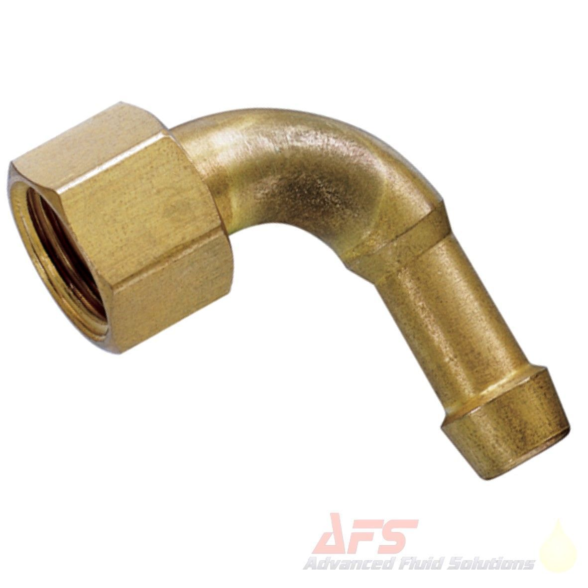 """8mm Hose Barb Tail 1//4/"""" BSP Female Thread Straight Brass Connector Fitting UK"""