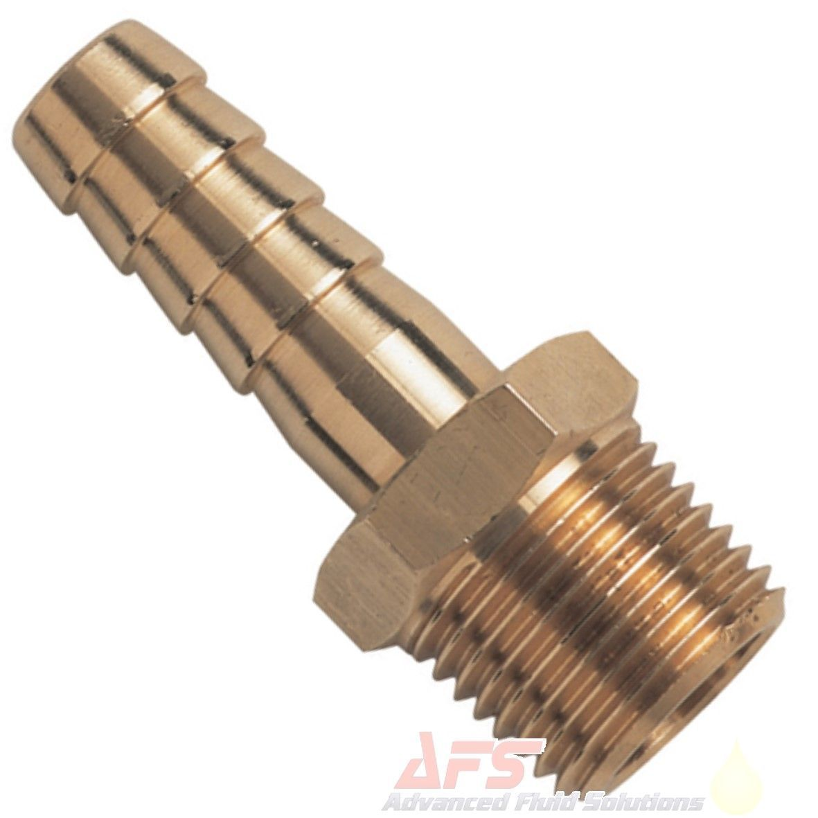 1 4 Npt >> 1 4 Npt Male X 1 2 13mm Hosetail Brass Fitting