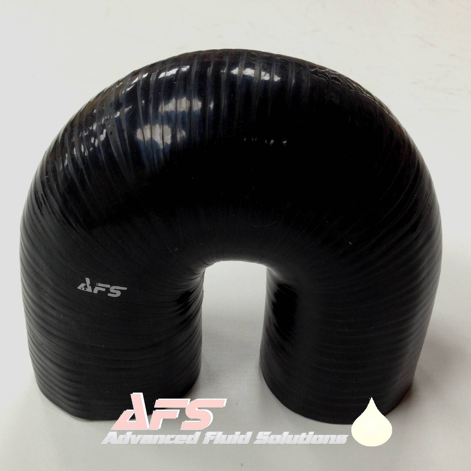 19mm 3 4 Inch I D Black 180 Degree Silicone Pipe U Bend