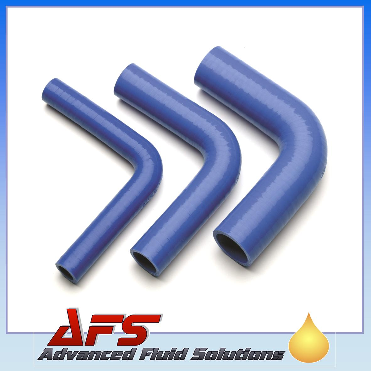 32mm to 25mm SILICONE 90 REDUCER ELBOW HOSE BLUE UK
