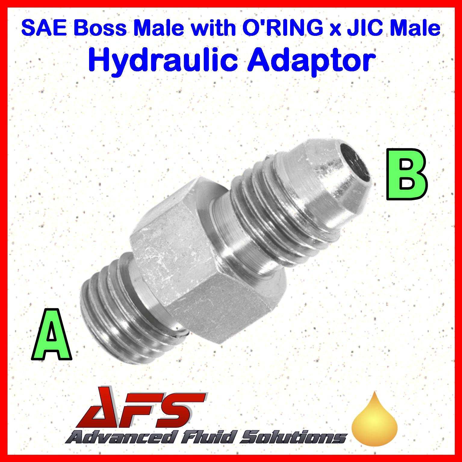 3 4 SAE Boss Male X 1-1 16 JIC Male Thread Straight