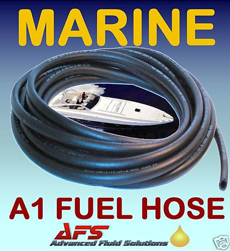 3/8 I.D (10mm) MARINE FUEL HOSE A1 ISO 7840 PETROL & DIESEL