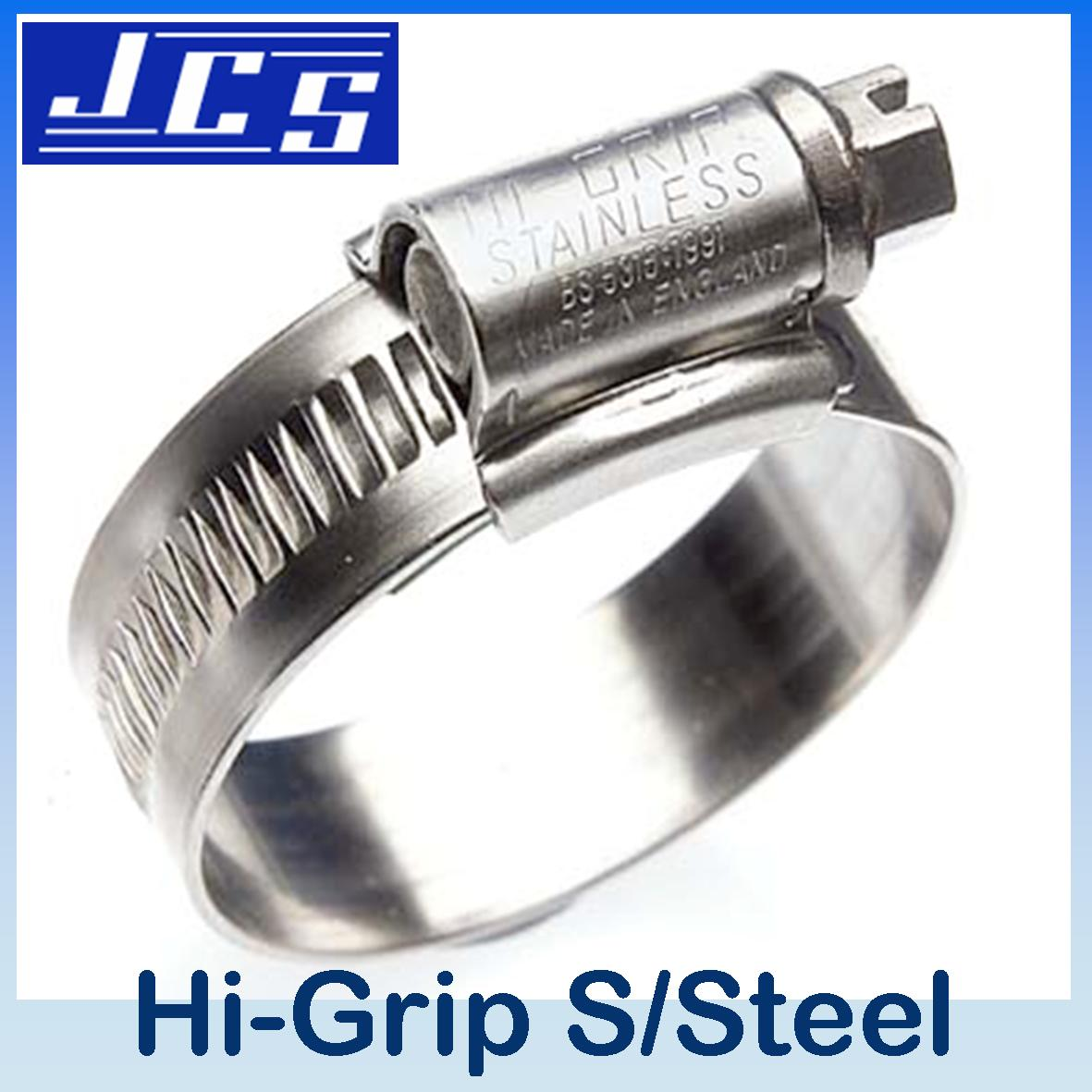 JCS HI-GRIP HOSE CLIP Stainless Steel 35-45mm