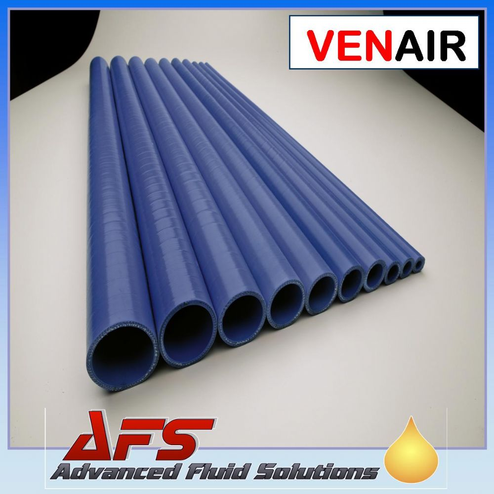 38mm Black 1 Metre Wire Reinforced Straight Silicone Hose