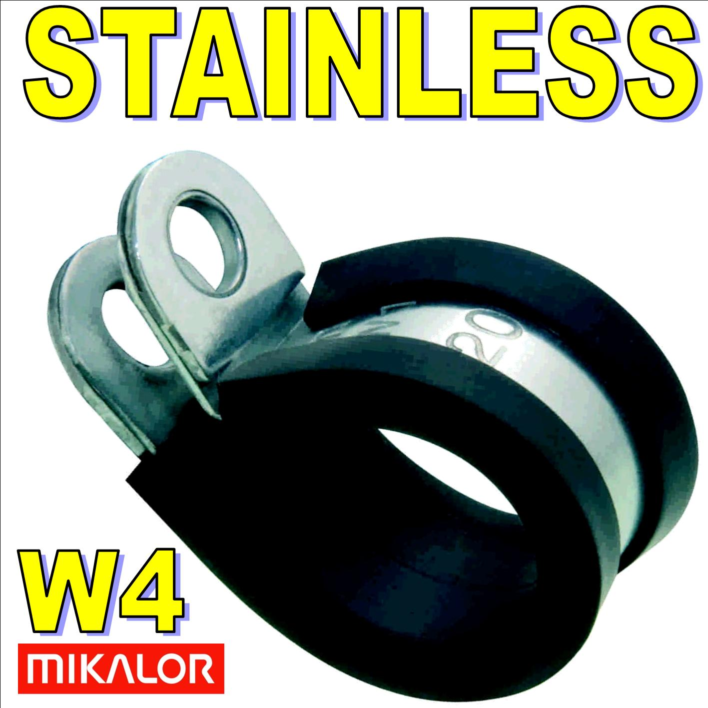 40mm W4 Stainless Steel Rubber Lined P Clip