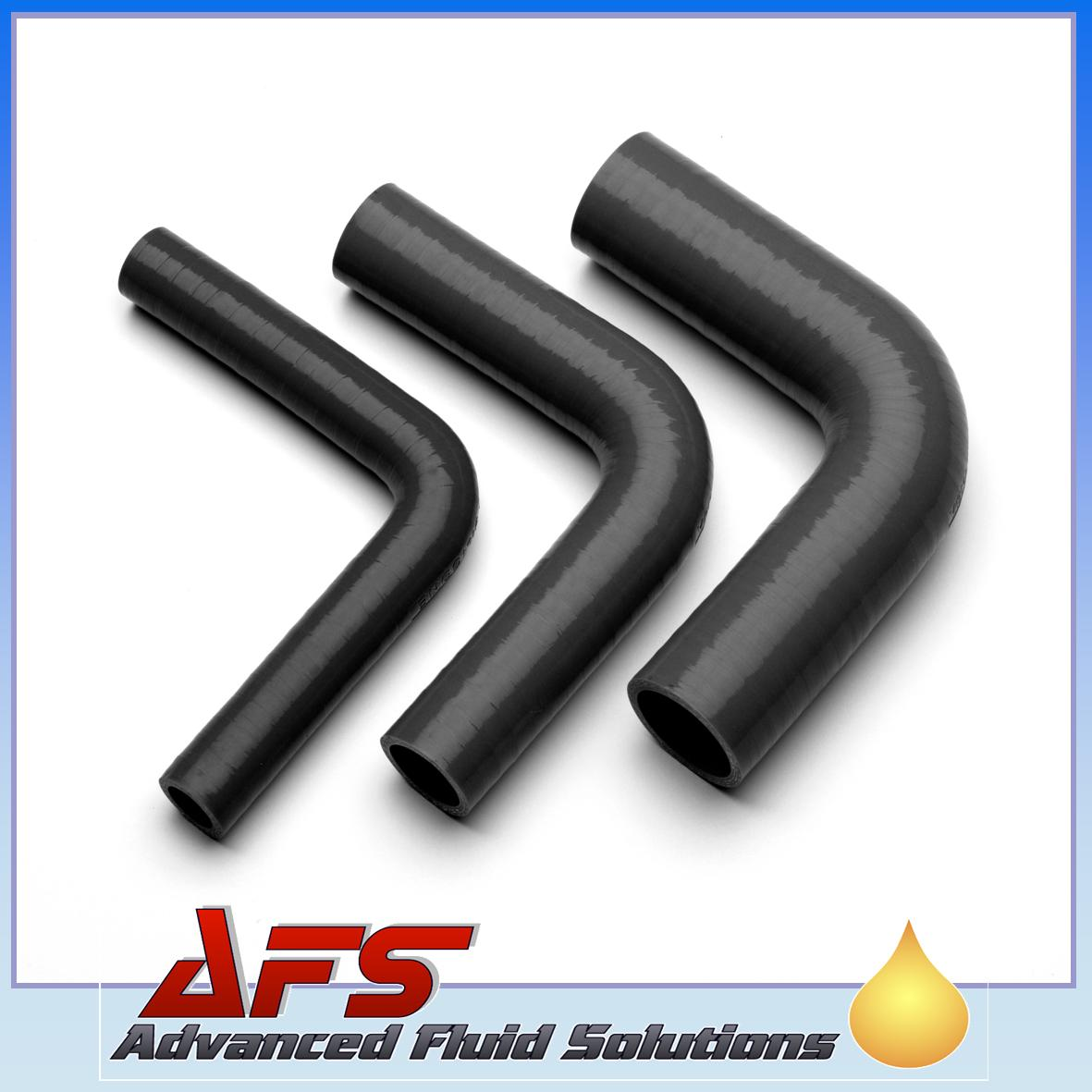 "3-Ply 90 Degree 3/""TO 3/"" 76mm Reducer elbow bend Silicon hose pipe Black"