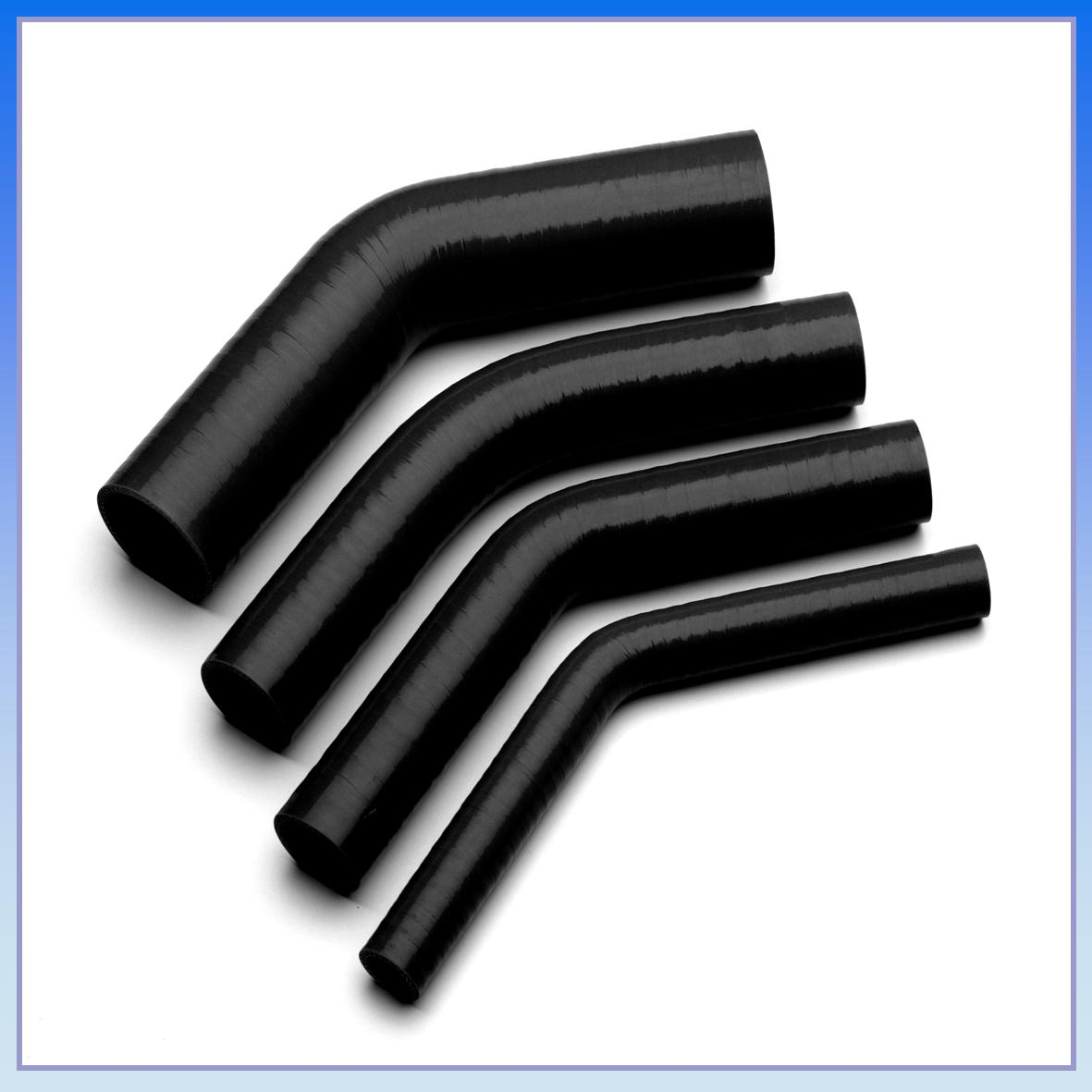 63mm 2 1 2 I D Black 45 Degree Silicone Elbow Hose Pipe