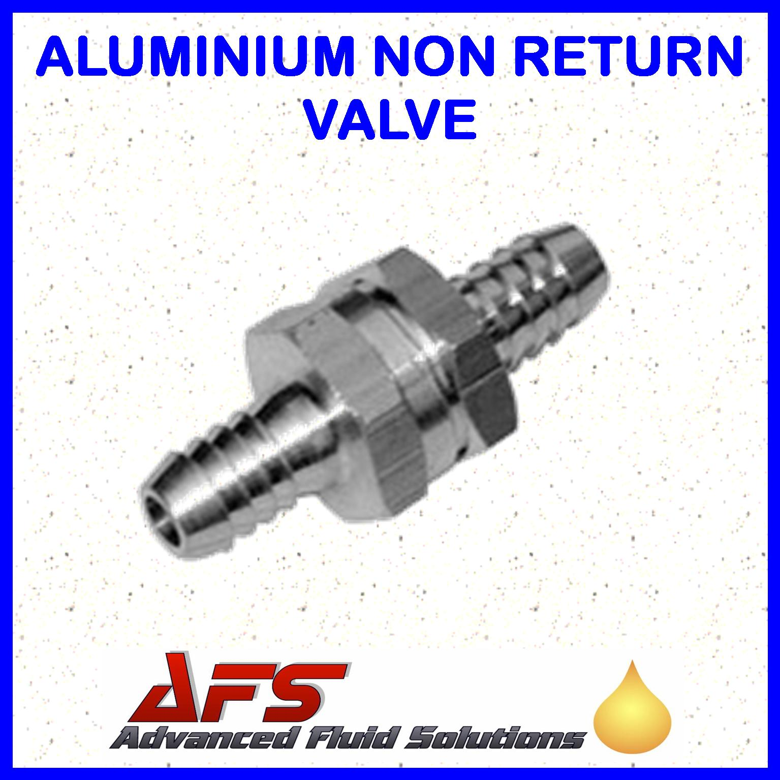 6mm (1/4) Straight Non Return Valve Aluminium - Fuel Check Valve Air Water  Pipe Tube Hose. «