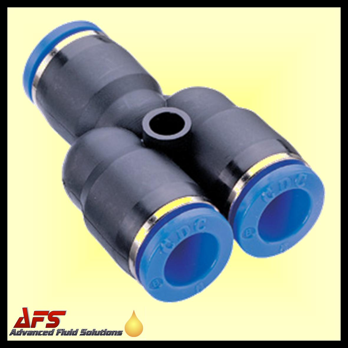 6mm Equal Y Piece Push In Fitting Nylon Pipe Tube Connector