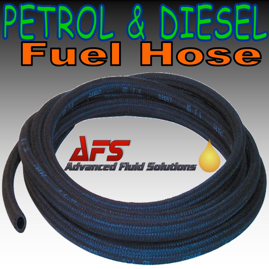 7 5mm I D (19/64) Cotton Over Braided Nitrile Fuel Hose Pipe Tubing