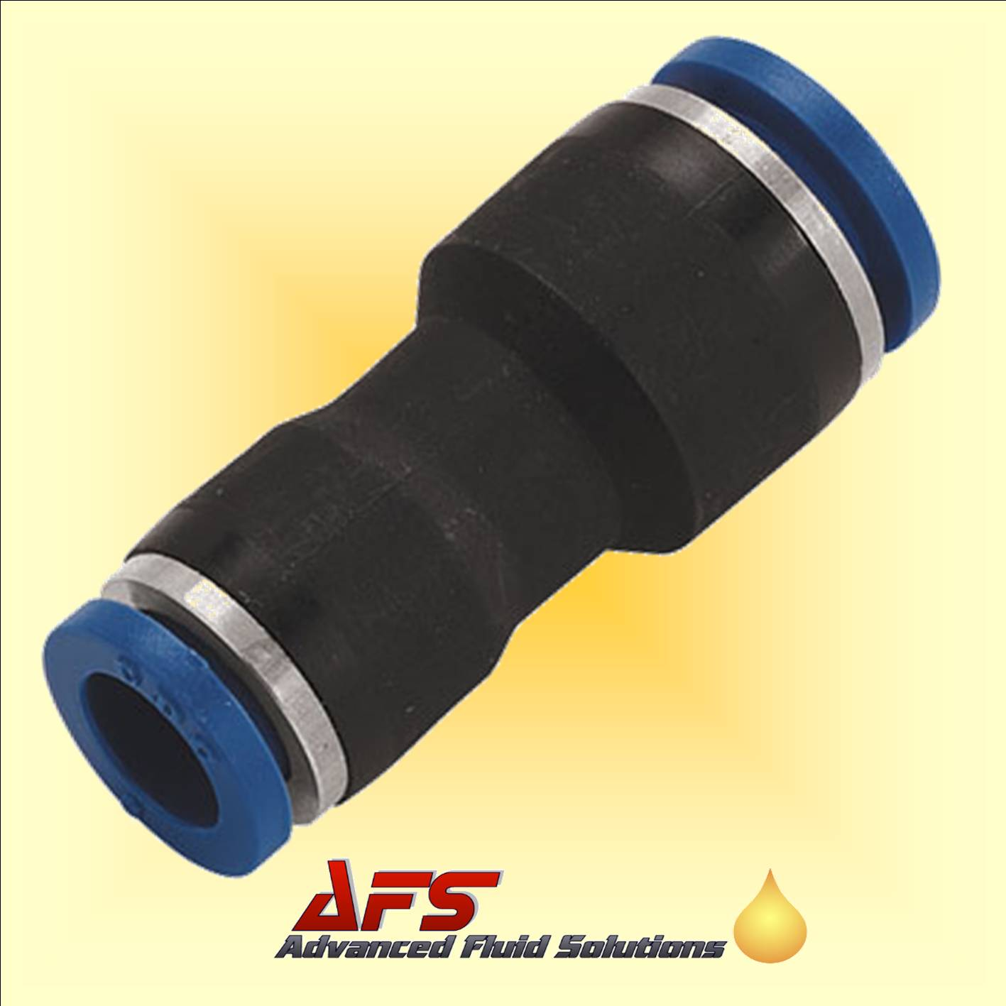 8mm - 4mm Straight Reducing Push-in Fitting Nylon Pipe/Tube Connector