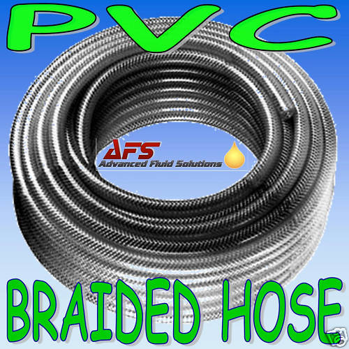 "8mm 5/16"" Reinforced Clear PVC Braided Hose"