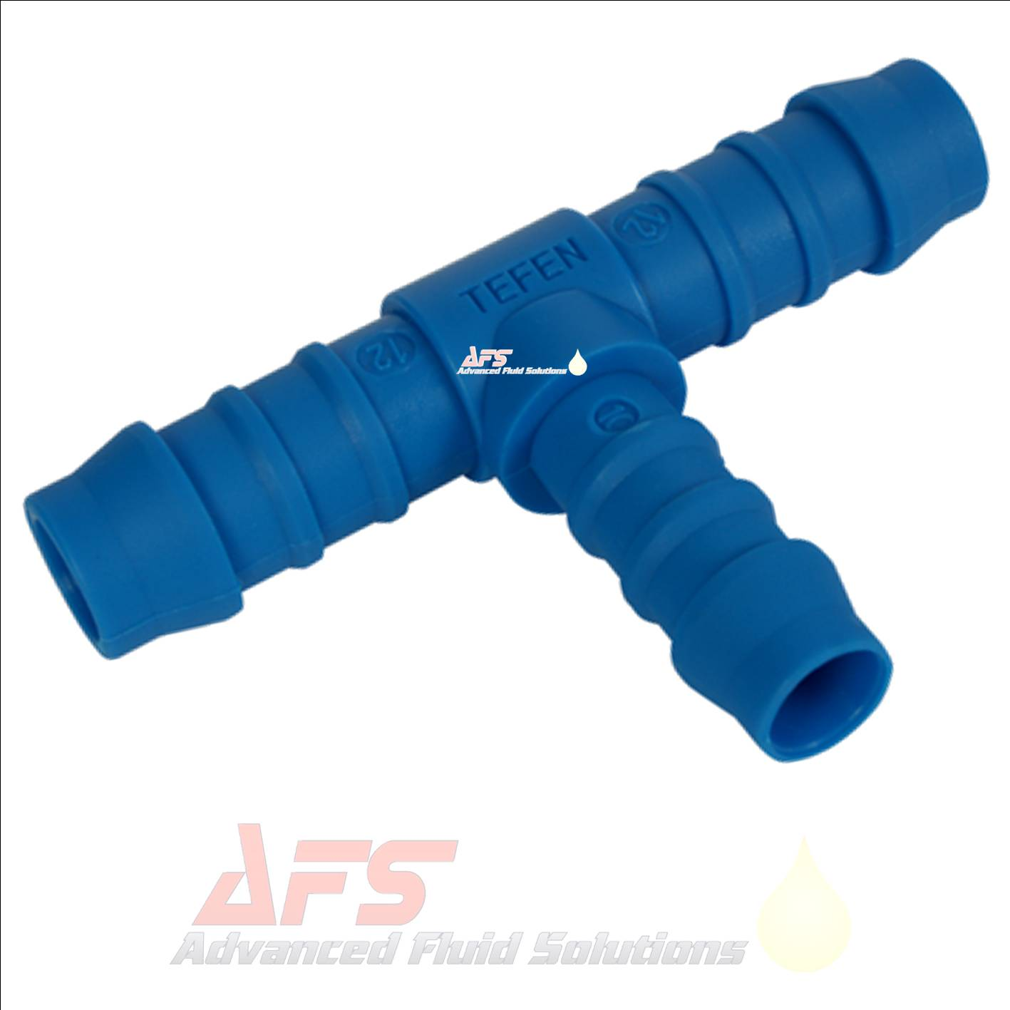 8mm X 6mm Reducing T Piece Hose Joiner Tefen Nylon Blue
