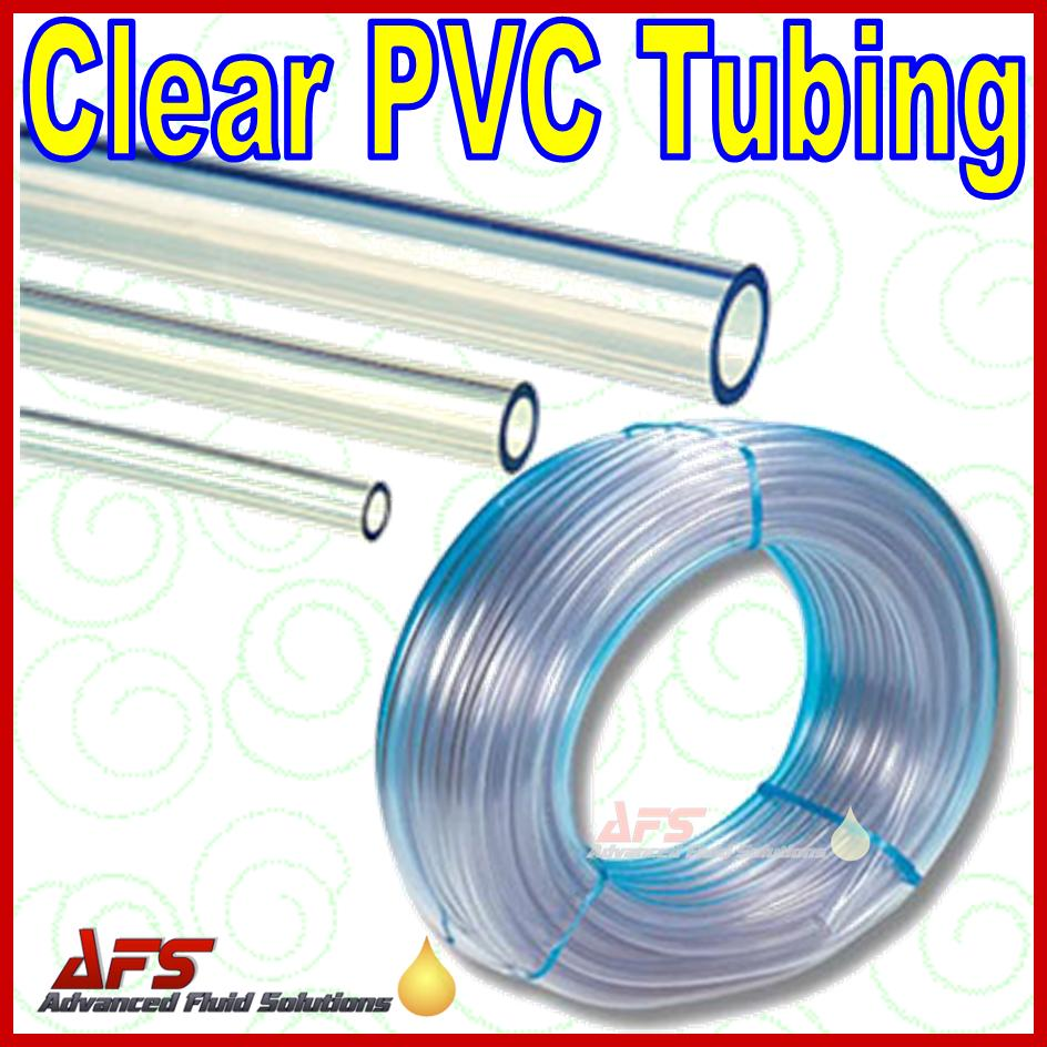 9mm x 12mm 3 8 inch Clear Un-Reinforced PVC Tubing Hose Pipe