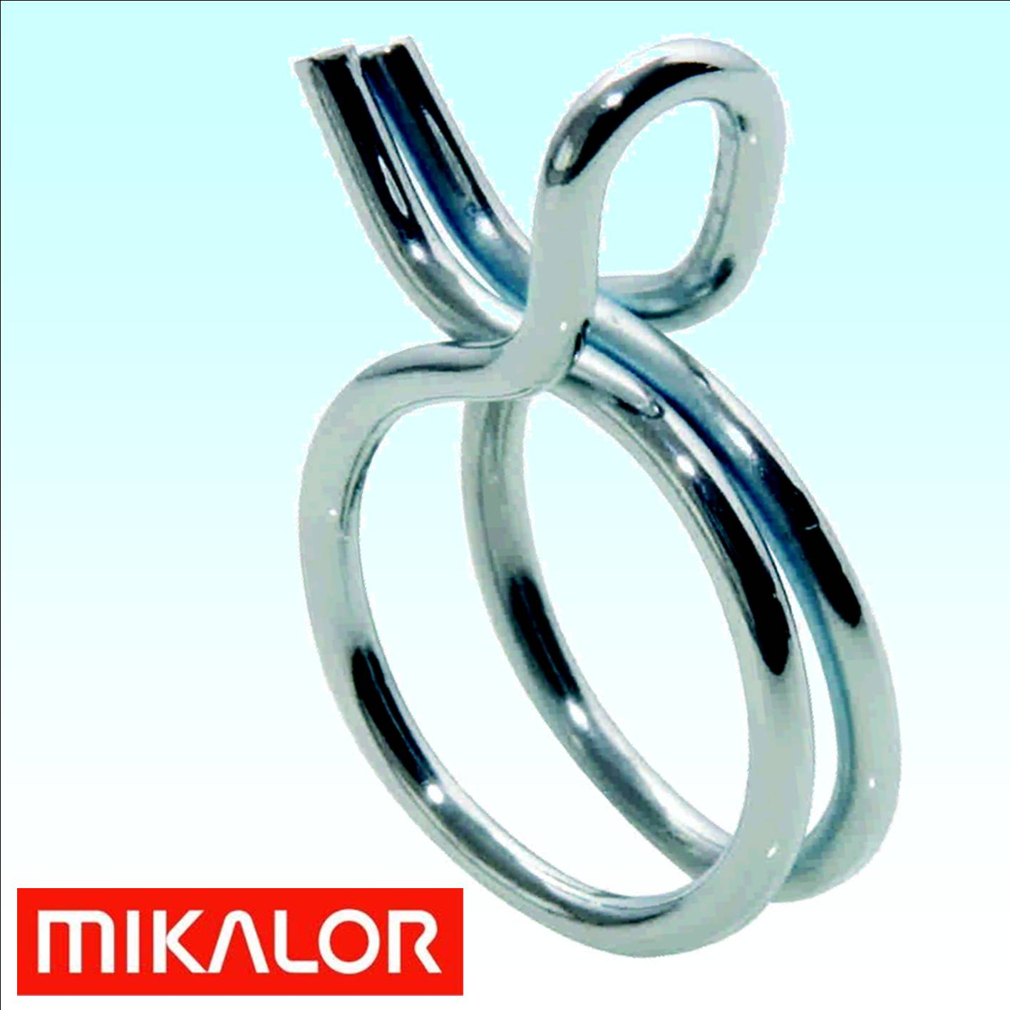 Mikalor Double Wire Spring Hose Clip 14.4 - 15.1mm