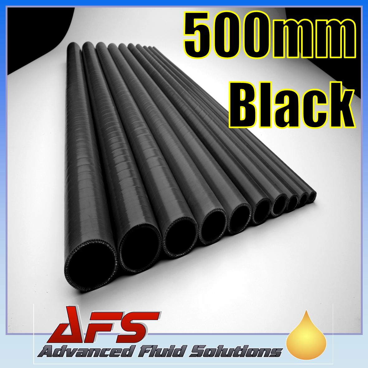 AutoSiliconeHoses 90mm ID Black 1 Metre Length Straight Silicone Hose